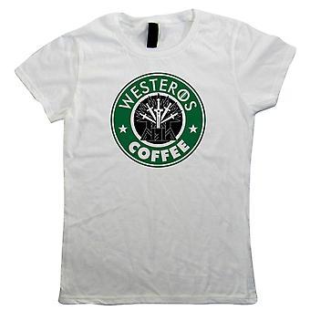Westeros Coffee tem filme de TV inspirado, camiseta feminina - Presente aniversário sua mãe