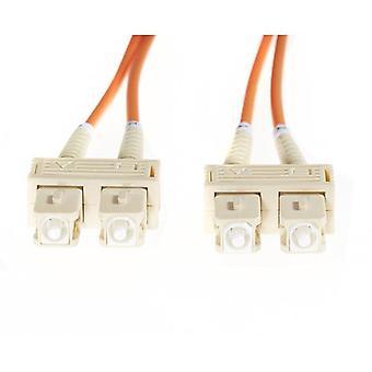 20M Sc Sc Om1 Multimode Fibre Optic Cable Orange