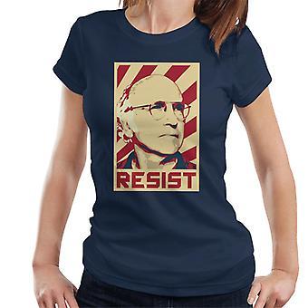 Larry David Resist Retro Propaganda Women's T-Shirt