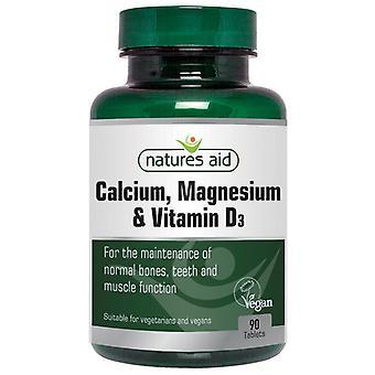 Nature's Aid Calcium; Magnesium & Vitamin D3 Tabletten 90 (19030)