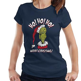 The Grinch Ho Ho Ho Merry Christmas Women's T-Shirt