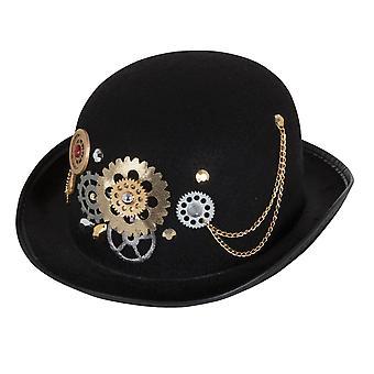 Bristol Novelty Unisex Adults Steampunk Bowler Hat