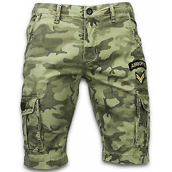 Menns korte bukser-slim fit Army sydd shorts-grønn