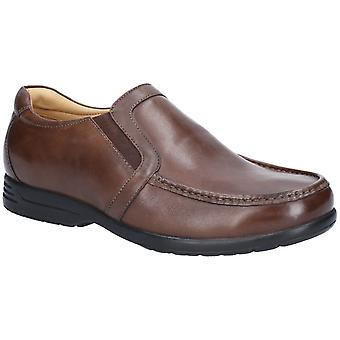 Fleet & Foster Mens Gordon Dual Fit Moccasin Brown