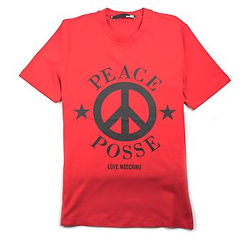 Love Moschino Red Peace Posse T-Shirt