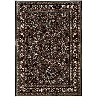 Ariana 213g8 green/ivory indoor area rug rectangle 6'7