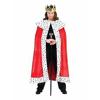 Koning heerser mannen kostuum keizer Kaap kroning mannen kostuum