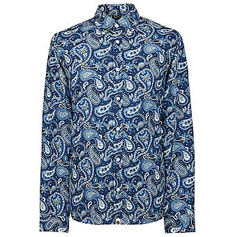 PRETTY GREEN Slim Fit Paisley Print Shirt