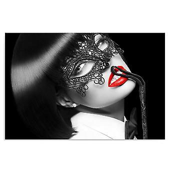 Deco Panel, Frau mit Peitsche und Maske
