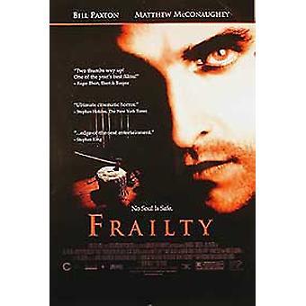 Frailty (enkelzijdige video) originele video/DVD AD poster