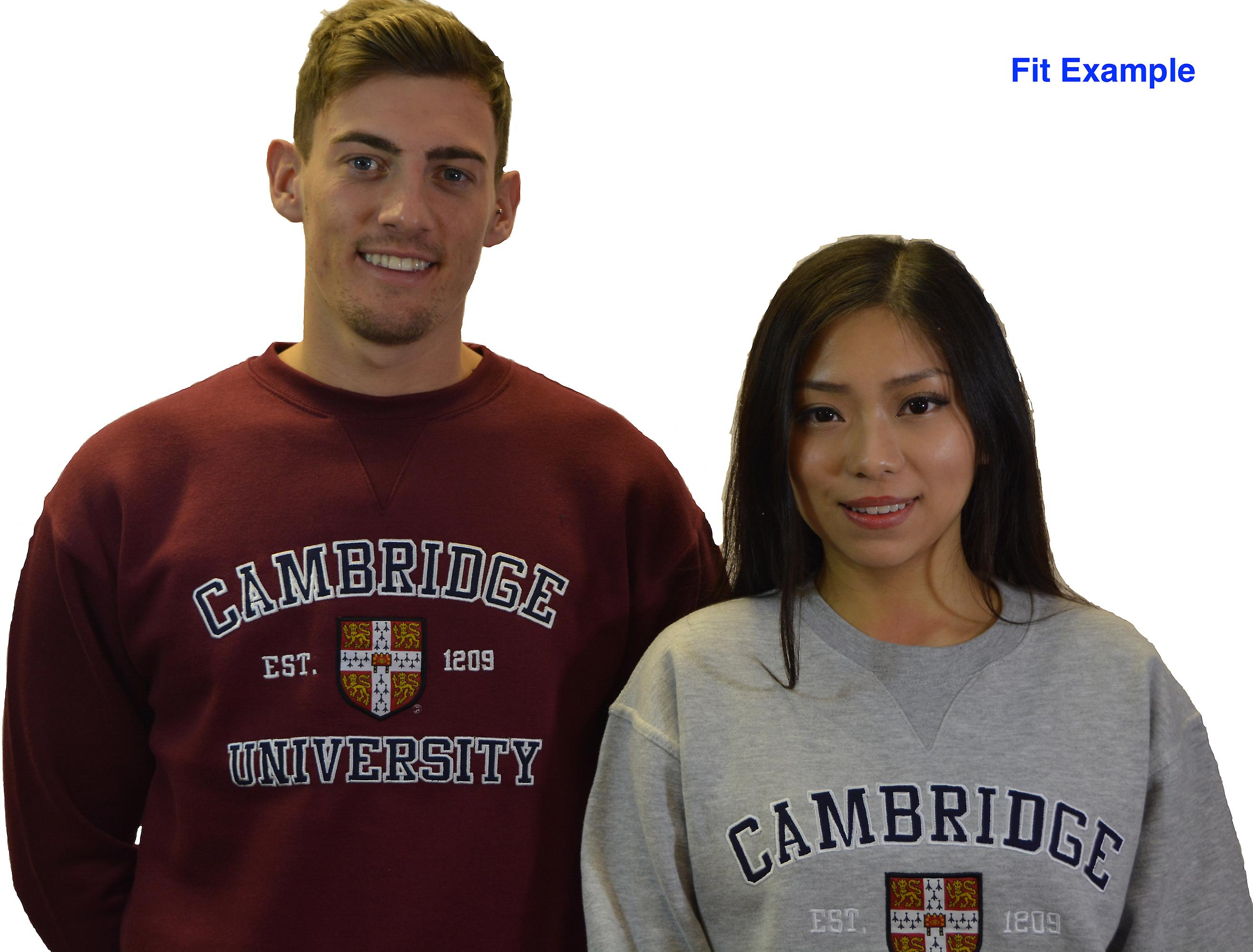Licensed cambridge university™ unisex sweatshirt maroon colour