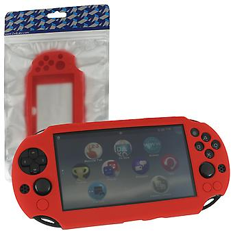 SC-1 soft silicone Skin Protector cover bumper Case voor Sony PS Vita 2000 slim-rood