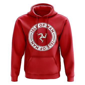 Isle of Man Football Badge Hoodie (Red)