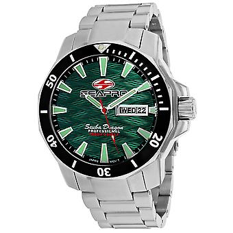 Seapro Men-apos;s Scuba Dragon Diver Limited Edition 1000 Meters Green Dial Watch - SP8318S