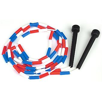 Red, white & blue 7 ft jump rope w/plastic segmentation