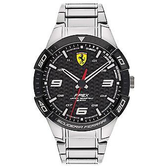 Scuderia Ferrari | Ápice de los hombres | Pulsera de acero inoxidable | Dial negro | Reloj 0830641