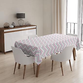 Meesoz Tafelkleed - Fine Zigzags Pink