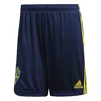 2020-2021 Schweden Home Adidas Fußball Shorts (Navy)