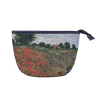 Monet - poppy field makeup bag by signare tapestry / makeup-art-cm-popfl