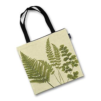 Mcalister textiles mixed green fern tapestry tote bag