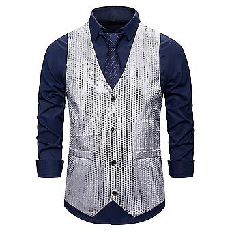 Allthemen Men-apos;s Casual Gorgeous V-neck Single-breasted Colorblocked Sequined Suit Vest Allthemen Men-apos;s Casual Gorgeous V-neck Single-breasted Colorblocked Sequined Suit Vest Allthemen Men-apos;s Casual Gorgeous V-neck Single-breasted Colorblocked Sequined Suit Vest Allthe