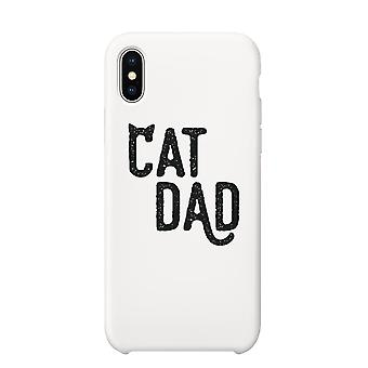 Cat Dad Case White Fun Sweet Thoughtful Silly Cute Gift For Dads
