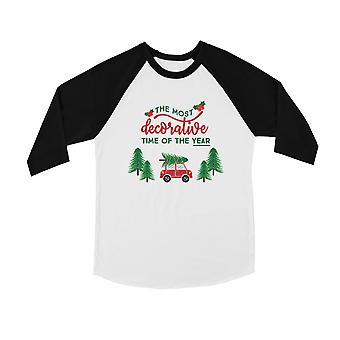 Decorative Christmas Time Cool BKWT Kids Baseball Shirt Holiday Gift