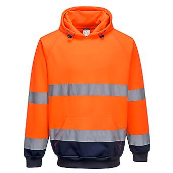 sUw - Two Tone Hi-Vis Safety Workwear Hooded Sweatshirt