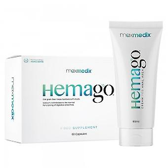 maxmedix HemaGo Pills & Cream - Soothing Combo For Piles - Natural Aid For The Symptoms Of Piles - Gently Supports The Digestive System