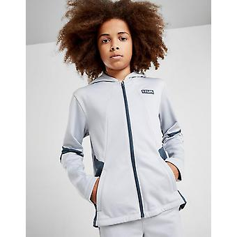 Ny under Armour gametime Full zip poly hoodie Junior grå