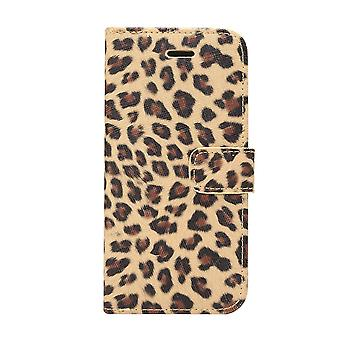 For Samsung Galaxy S9 Wallet Case,Leopard Pattern Leather Shielding Cover,Yellow