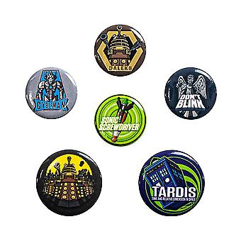 Doctor Who, 6x Pins