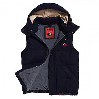 Superdry New Academy Navy Hooded Padded Gilet 56T