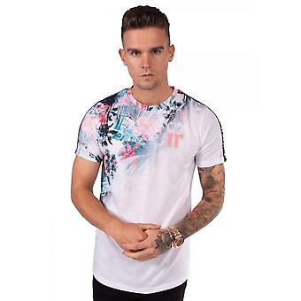 Eleven Degrees 11 Degrees 11d-2926 Havoc Taped Half Sleeve T-shirt - Blanc