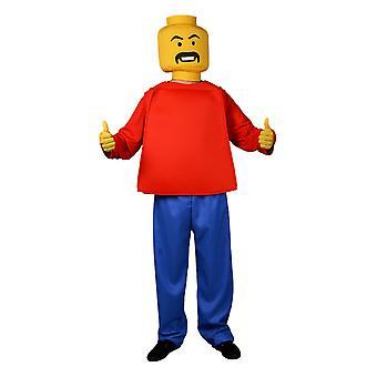 Morph Kostuum Mr Block Head Unisex