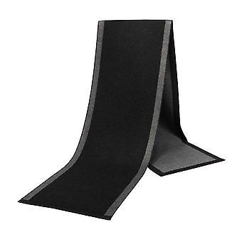Dark & light grey pattern viscose bamboo men's scarf