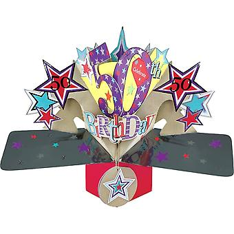 Second Nature Pop Up Stars 3d 50th Happy Birthday Card Pop151