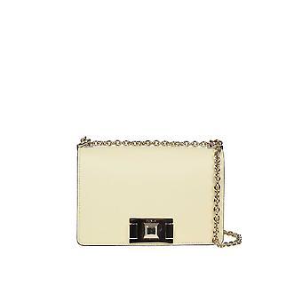 Furla 1045374 Women's Yellow Leather Shoulder Bag