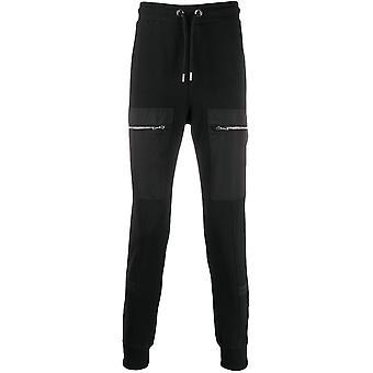 Les Hommes Lij101753n9000 Men's Black Cotton Joggers