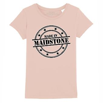 STUFF4 Girl's Round Neck T-Shirt/Made In Maidstone/Coral Pink