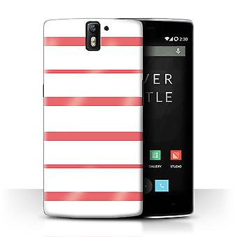 STUFF4 Case/Cover for OnePlus One/Coral Hoops/Seaside Fashion