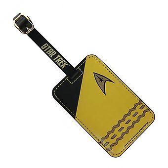 Bagage Tag - Star Trek - Guld Uniform Nyt legetøj licenseret ST-L104