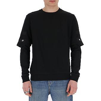 Les Hommes Lih110753c9000 Men's Black Cotton Sweatshirt