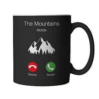 Mountains Calling Phone Mug Campervan Wild Camp Climbing Gift Him Dad Her Mum