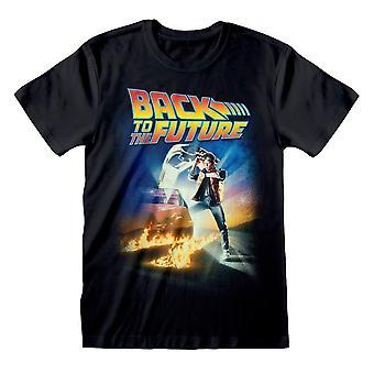 Men's Back to the Future Elokuvajuliste Musta T-paita - Unisex Retro Tee