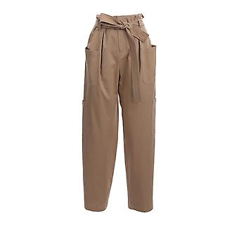 Red Valentino Tr0rbc454yn191 Women's Beige Cotton Pants