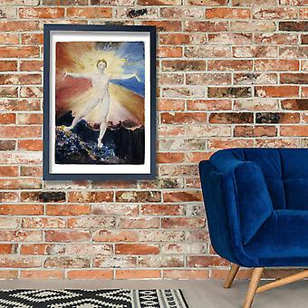 William Blake - Albion Rose Poster Print Giclee