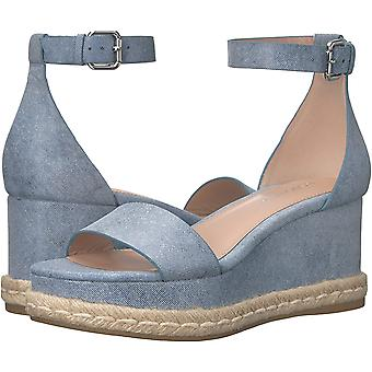 BCBGeneration Women's Addie Espadrille Wedge Sandal, Blue, 9 M US