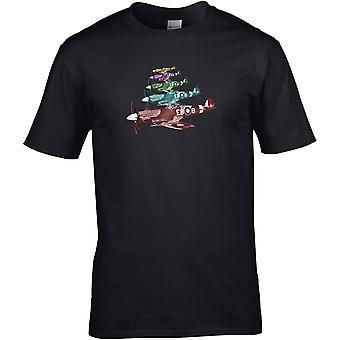 Spitfire Pop Art WW2 - - DTG gedruckt T-Shirt