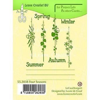 LeCrea - PL&Cards clear stamp Seasons English text 55.2038